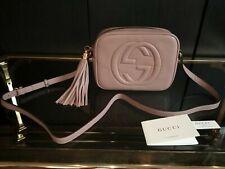 GUCCI Soho Women Crossbody bag Shoulder bag leather 100% Authentic~