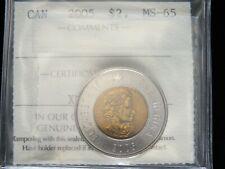 2005 - Polar Bear - Canadian 2 Dollar - ICCS Graded MS-65