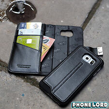 Genuine Mossimo Samsung Galaxy S6 Mag Latch wallet case quality leather Black