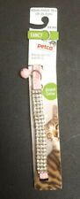 Petco Cat Collar Pink Crystal Fancy Stretch Collar NEW
