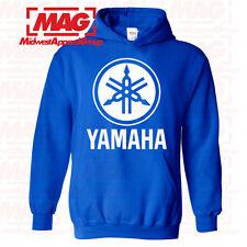 YAMAHA HOODIE Racing Motocross Motox Hooded Sweatshirt ATV White Logo OEM R1 R6