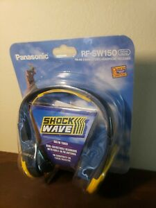 Panasonic RF-SW150 Shock Wave AM FM Stereo Headphones Radio Receiver Vintage NEW