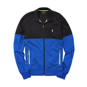 Ralph Lauren Polo Black Colorblock Interlock Track Jacket New $135
