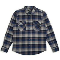 BRIXTON BOWERY L/S FLANNEL SHIRT BLUE / NIGHT