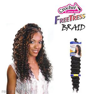 "Freetress Deep Twist Bulk,Crochet Braid 22""premium Hair Extension-col 1B"