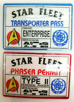 Vintage Star Trek:TMP ID Badge Set of 2- Phaser Permit/Transporter Pass
