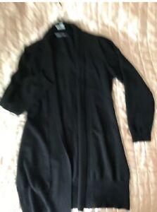 WOOLLOVERS Longline cardigan gray 70% merino wool 30% cashmere