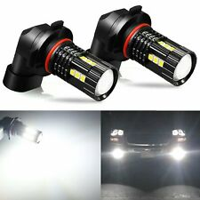 JDM ASTAR 2x 3030 H10 9145 LED 6000K White Fog Light Driving Bulbs High Power
