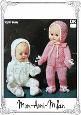 """Knitting Pattern Copy DOLLS CLOTHES JACKET LEGGINGS HAT MITTS 10-16"""" TINY TEARS"""