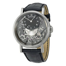 Breguet Tradition Black and Grey Skeleton Dial 18kt White Gold Black Leather