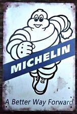 MICHELIN METAL TIN SIGNS vintage cafe pub bar garage farm tyres mechanic tool