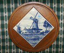 Dutch Windmill Hot Plate Boma Delft's blauw Holland Trivet
