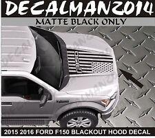 FORD F150 2015 2016 Blackout American Flag Vinyl hood decal Matte Black