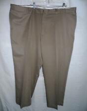 OAK HILL 50 x 28 Taupe Tan Khaki Comfort Expandable Stretched Waist Dress Pants