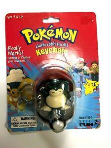 Nintendo SNORLAX Pokemon Basic Fun Pokeball Keychain 1999