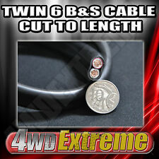 1M X 6 B&S TWIN 14MM RED BLACK CABLE CUT TO LENGTH - DUAL BATTERY INSTALLATION