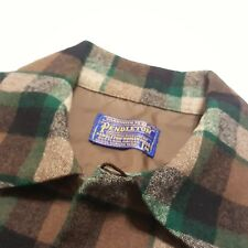 Vintage Pendleton Wool Board Shirt Surf Beach plaid flap Loop collar jac jacket
