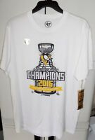 NEW NWT MEN M S '47 PITTSBURGH PENGUINS NHL STANLEY CUP 2016 WHITE T-SHIRT SHIRT