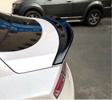 FOR Lincoln MKZ 2015-2020 Glossy black Rear Tail Trunk Spoiler Wing Lip Trim ABS