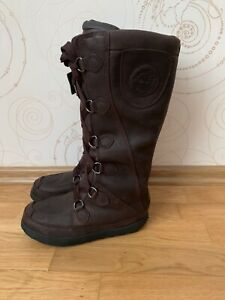 TIMBERLAND Snow Boots Knee High Leather Shoes Size US 8 EU 39