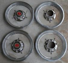 """1985/97 FORD TRUCK Bronco F150 XLT centercaps Set0""""4 W/trim rings HUB portholes"""
