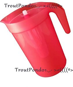Tupperware 1 Gallon Pitcher with Infuser Emberglow Red New