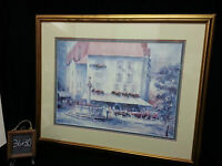 Swiss Villa Square by Lou Roman Painting Print Numbered and Penciled Signed