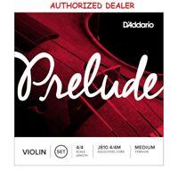 DAddario Prelude Violin Strings Set J810 4/4 M Medium