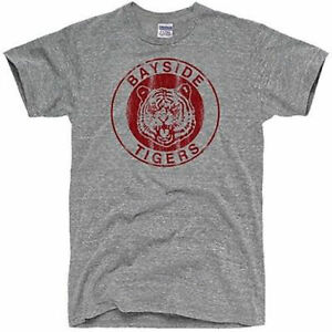 Bayside Tigers T-Shirt Vintage 80's  Tee High School Saved by Bell FREE SHIP
