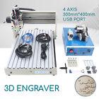 CNC Router Engraver Wood Desktop Cutter Engraving Milling Machine 4 Axis 400W