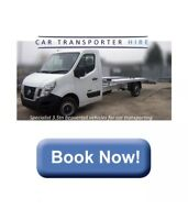 SELF DRIVE CAR TRANSPORTER HIRE £105 PER DAY INCLUDES INSURANCE AND 250 MILES