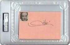 Marlene Dietrich Signed Autographed 4X6 Index Card 1967 Vintage Auto PSA/DNA