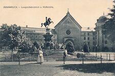 PK AK Tirol Innsbruck 1912 Personen Damen Leopoldsbrunnen Hofkirche