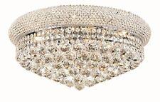 "World Capital Bangle 20"" Crystal Chandelier Flush Mount Ceiling Light Chrome"