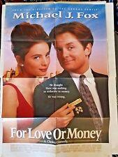 "Michael J. Fox For Love of Money Movie Poster Folded 40""x27"""