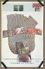 rare 1st edition ROBERT RAUSCHENBERG poster (1976) Washington DC - johns warhol