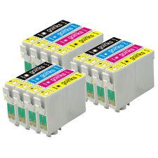 12 CARTUCCE DI INCHIOSTRO BK / C / M / Y per Epson Stylus Photo R240 R245 RX420 RX425 RX520