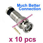10x Compression Male RG59 BNC Coaxial Connector Plug for CCTV Security Camera