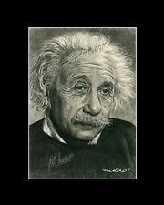 Albert Einstein physicist genius drawing from artist image picture art