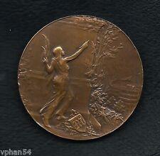 "Art Noveau / ""LE MATIN"" FRANCE / (defective) Bronze Medal by René Riberon M.**"