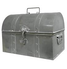style ancien coffre coffret boite malle de rangement en metal fer 25x35x23cm
