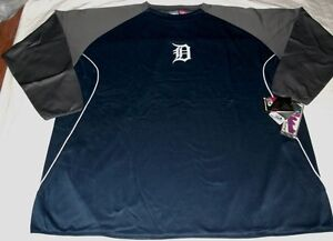 Detroit Tigers Authentic On Field Therma Base Tech Fleece Pullover Two Tone MLB