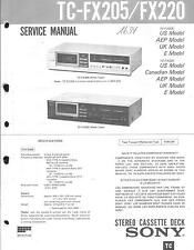 Sony Original Service Manual für TC-FX 205 / FX 220