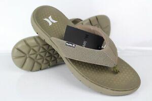 Hurley Men's Flex 2.0 Flip-Flop Sandals Size 10 Khaki
