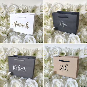 Personalised Boutique Gift Bag Thank you Birthday Wedding Proposal Present NEW