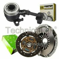 VALEO 2 PART CLUTCH KIT AND LUK CSC FOR NISSAN MICRA C CONVERTIBLE 1.6 160 SR