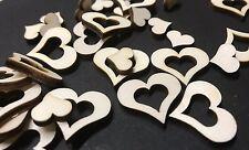 100 streudeko madera corazón centro de mesa boda dekoherzen streuteile herzenset Spitz