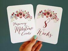 Pregnancy Milestone cards photo prop pregnancy gift watercolour design