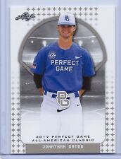 """JONATHAN GATES 2017 """"1ST EVER PRINTED"""" PERFECT GAME AAC ROOKIE CARD"""