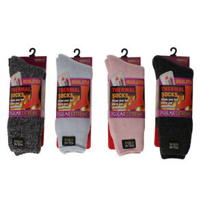Women's Socks Polar Extreme Insulated Thermal Brushed Socks 4 Colors Size 9-11